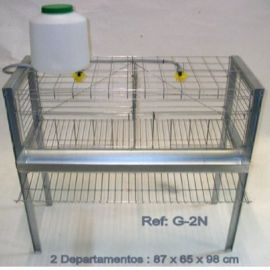 Jaula gallinas. Un piso, 6 Aves. (G-2N)
