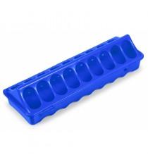 Comedero con Huecos de Plástico, 30 cm, Azul