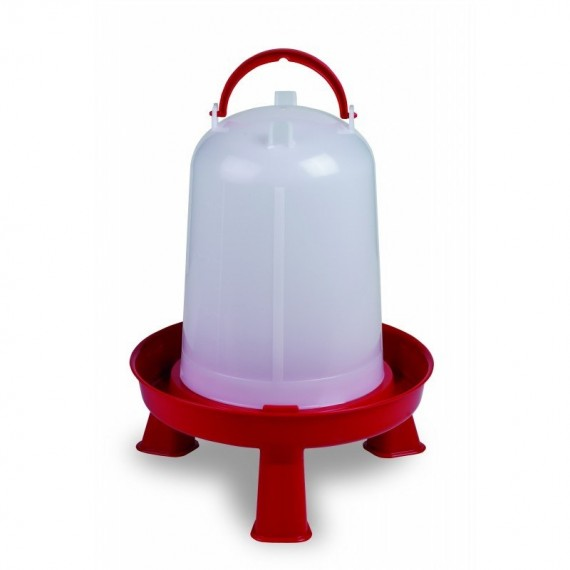 Bebedero eco 5 litros con patas rojo