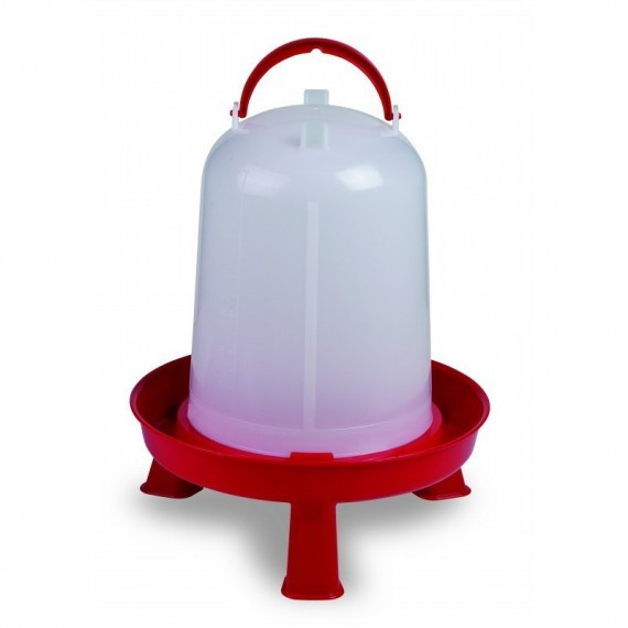Bebedero eco 8 litros con patas rojo