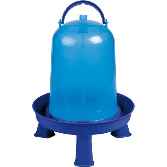 Bebedero eco 8 litros con patas azul