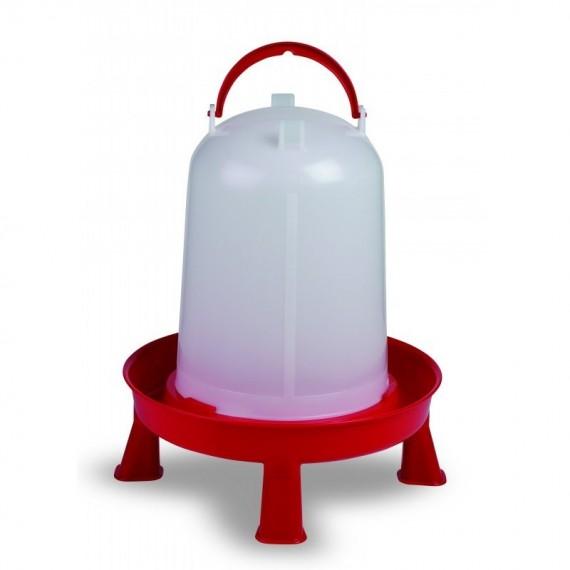 Bebedero eco 10 litros con patas rojo