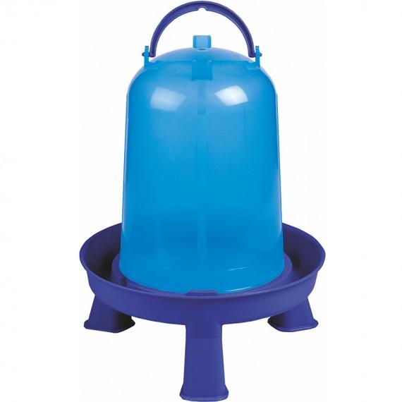 Bebedero eco 10 litros con patas azul