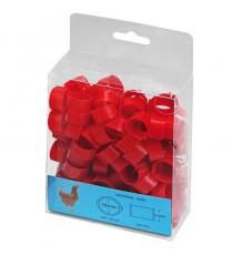 Anilla plástica 16mm Gallinas (100 und) Rojo