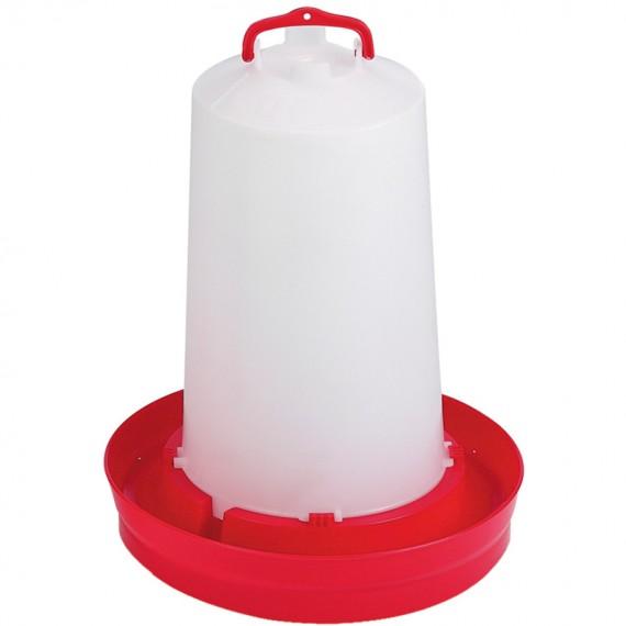 Bebedero Pollos 12 Litros Rojo
