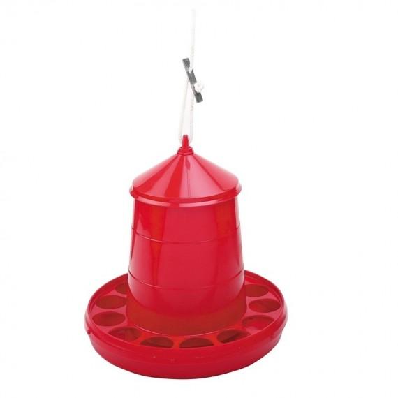 Tolva Plástico 2 Kilos Aves Rojo