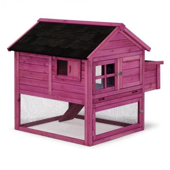 Caseta madera aves modelo Italia